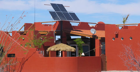 Solar powered home in El Dorado Ranch
